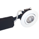 Low Profile 230V downlight, 6W LED 3000K, udendørs, hvid, rund