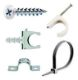 Fixings and fasteners for electrical installations